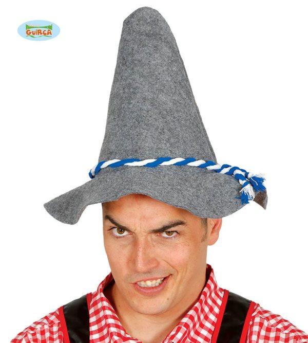 Grey Tyrolean Oktoberfest Scarecrow Hat