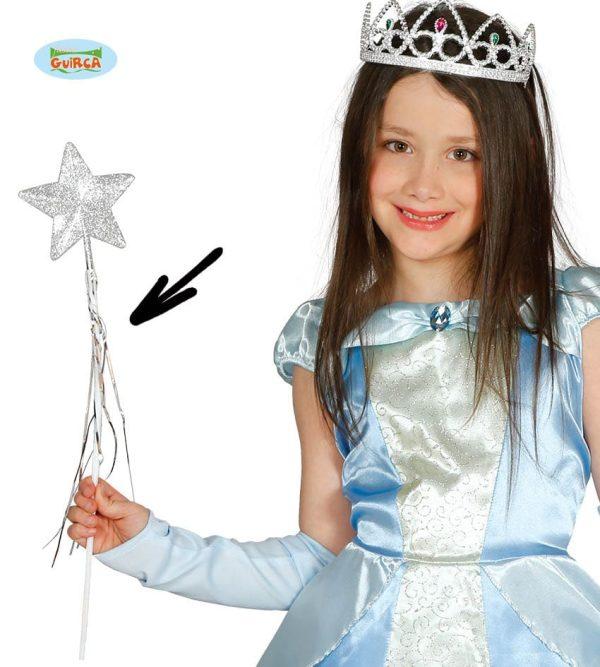Silver Fairy Wand, 45 Cm