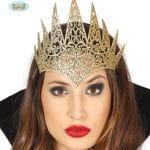 Womens Gold Queen Tiara