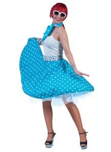 1950s Blue Rock N Roll Skirt For Adults