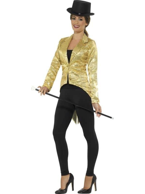 Sequin Tailcoat Jacket, Ladies