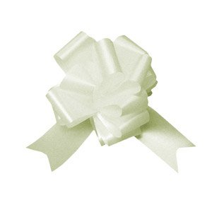 Ivory Pull Bows Pack 20