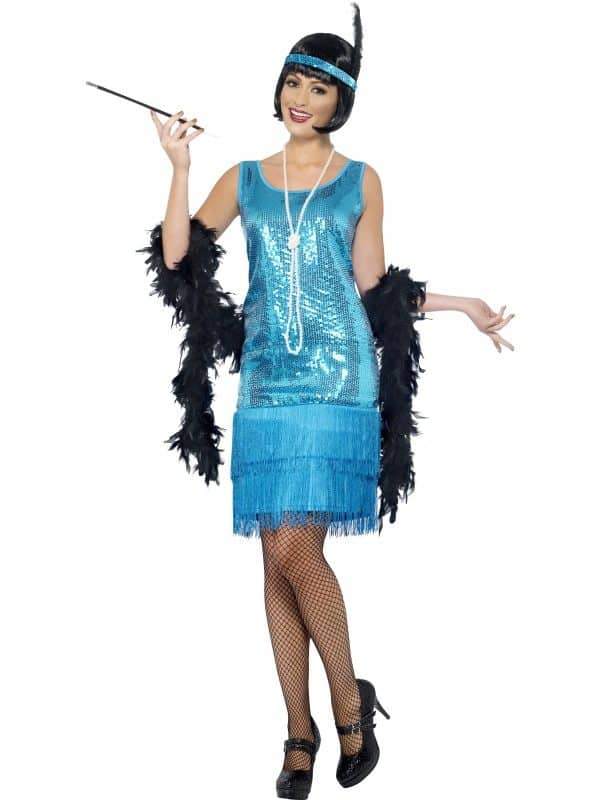 1920s Blue Charleston Flapper Costume