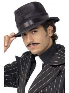 1920s Gangster Hat Black