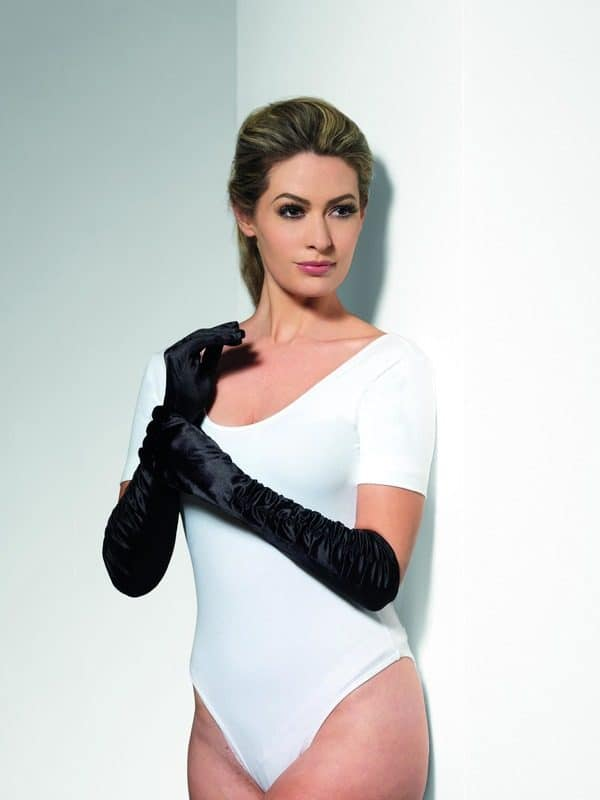 Long Black Temptress Gloves
