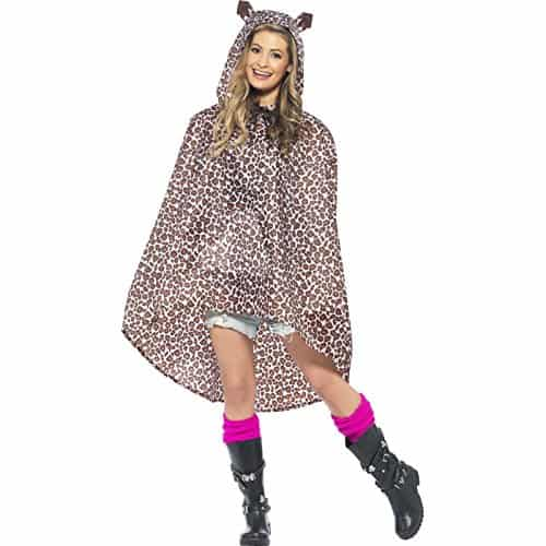 Novelty Leopard Print Party Poncho