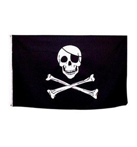 Pirate Flag Paper Party Bunting 8ft