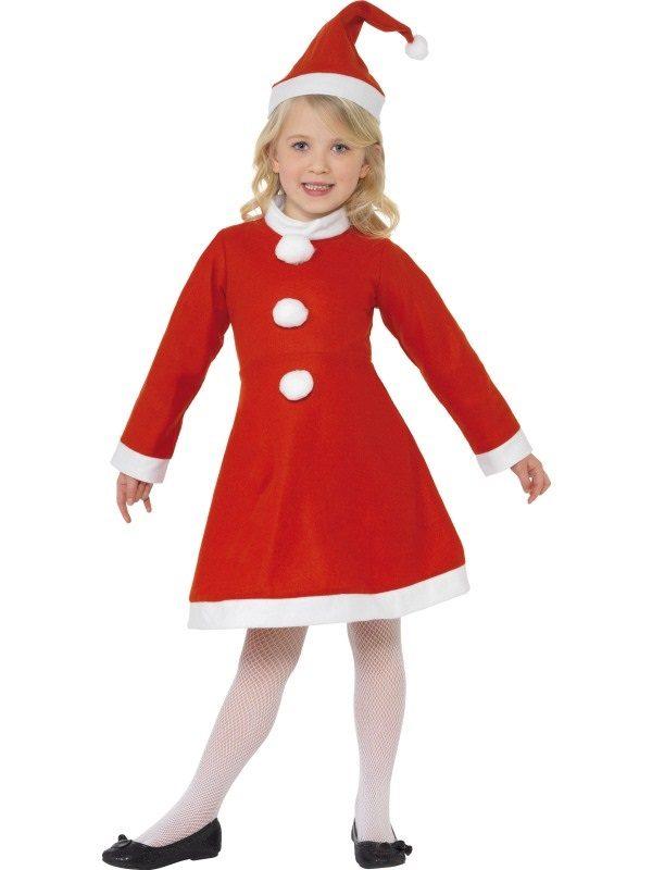 Christmas Santa Girl Costume Age 5-6