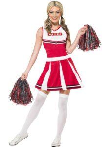 Cheerleader Costume Red Medium