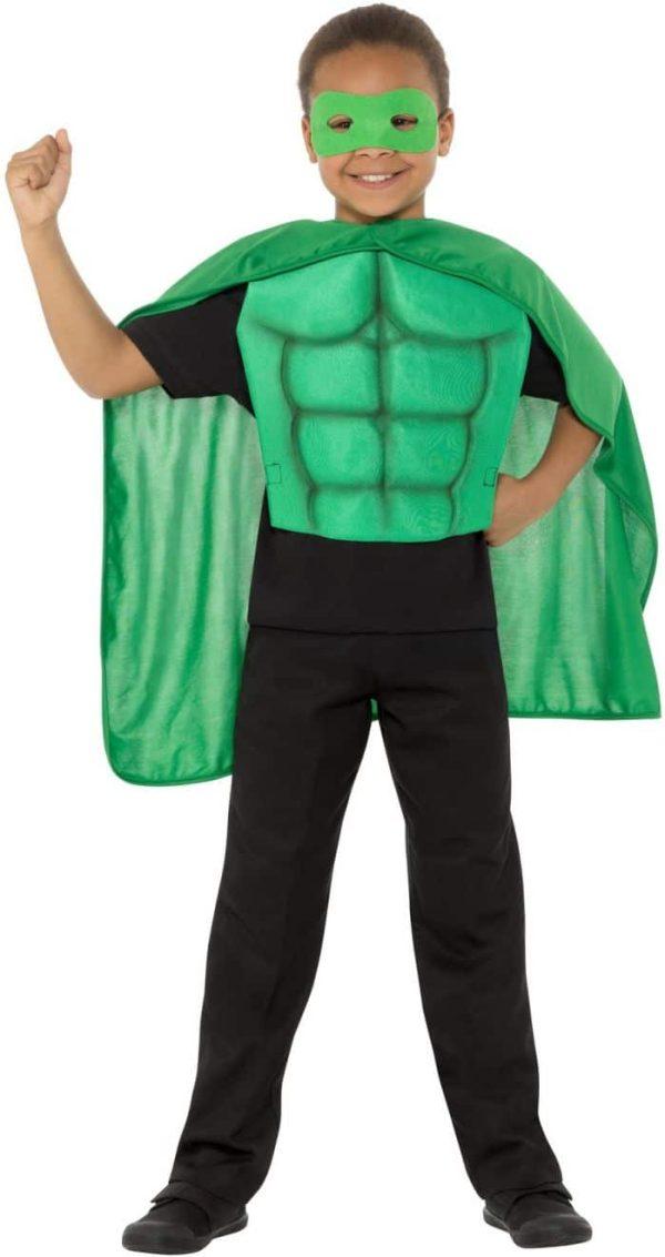 Kids Superhero Kit green
