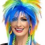 1980s Rainbow Punk Wig