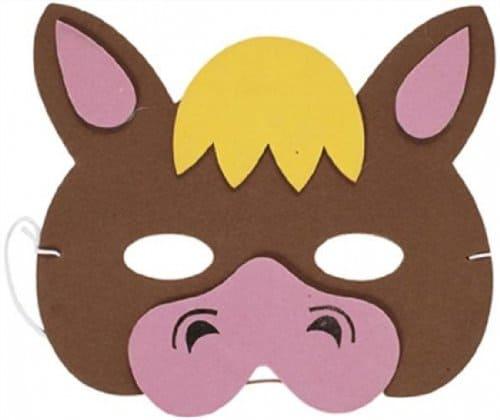 Mask Farm Animal Horse (Soft Foam) For Fancy Dress Masquerade Accessory