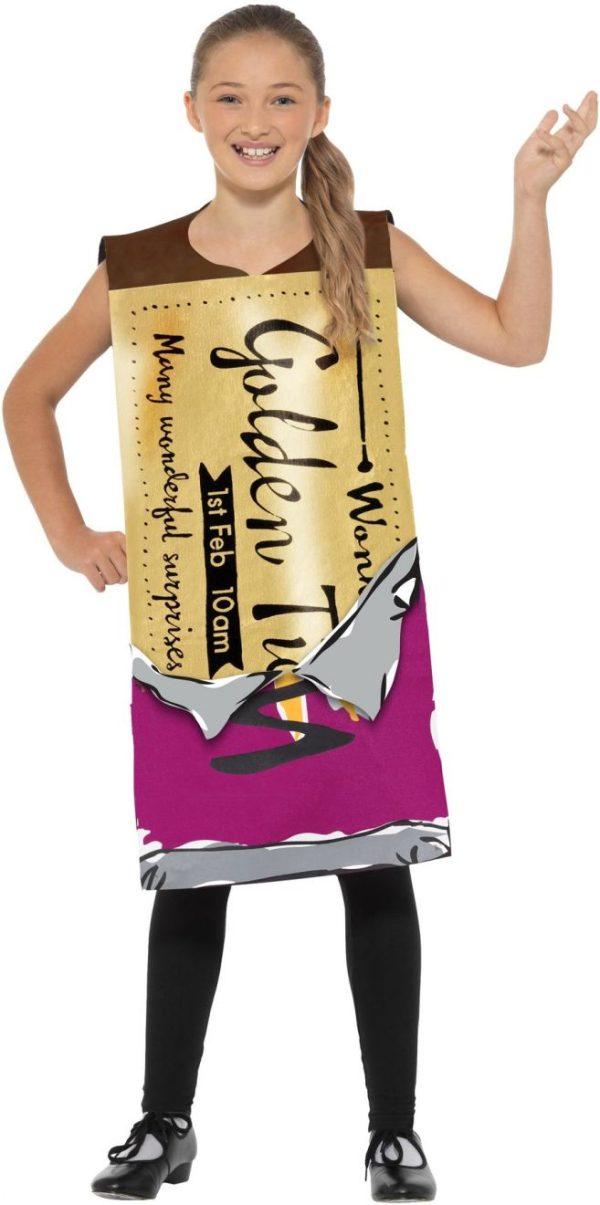 Roald Dahl Winning Wonka Bar Costume Small Medium