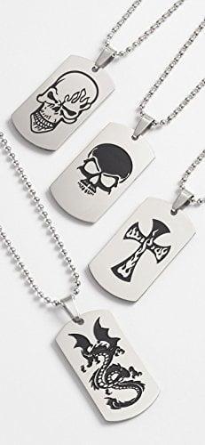 Skull Pirate Cross Necklace Pendant