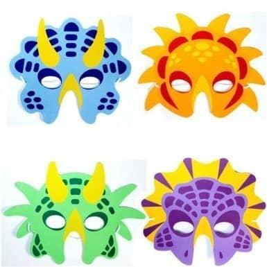 Dinosaur Foam Party Masks Pack Of 6 For Kids
