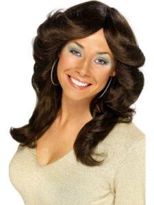 1970s Brown Flick Wig
