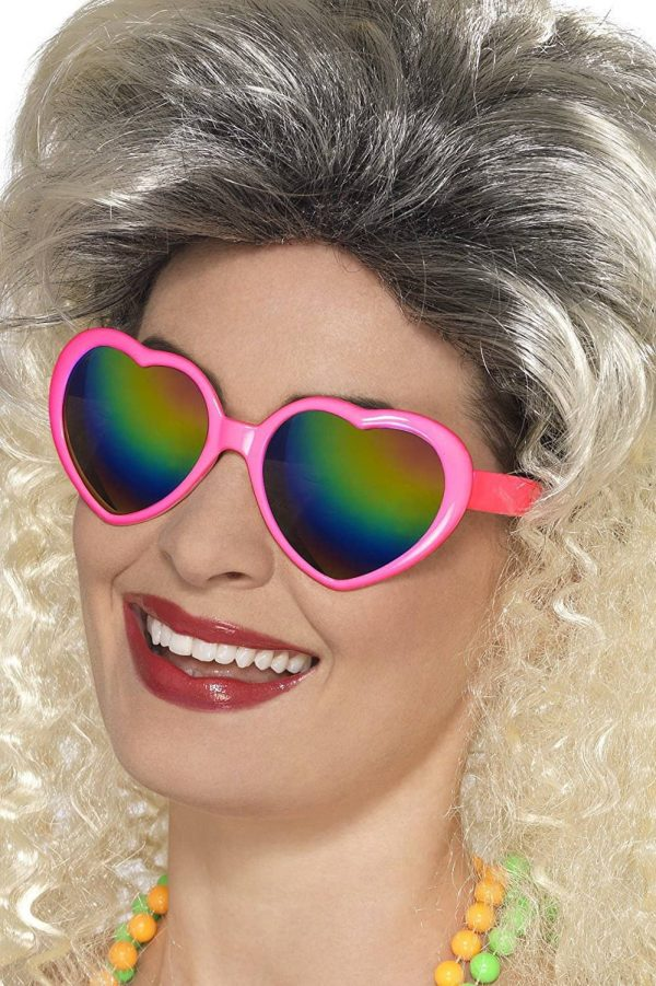 1980's Pink Heart Shaped Glasses