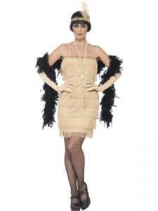 1920s Gold Charleston Flapper Costume Medium