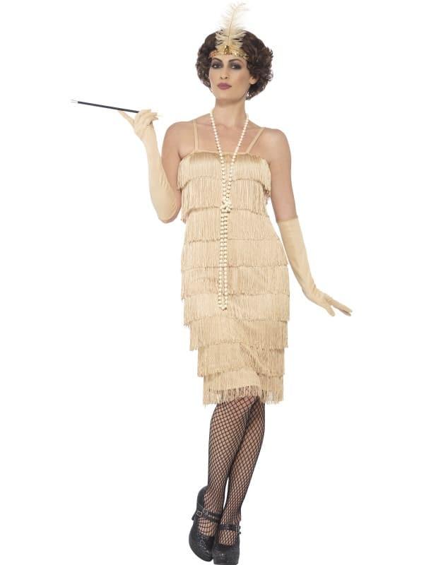 1920s Charleston Gold Flapper Costume X Large