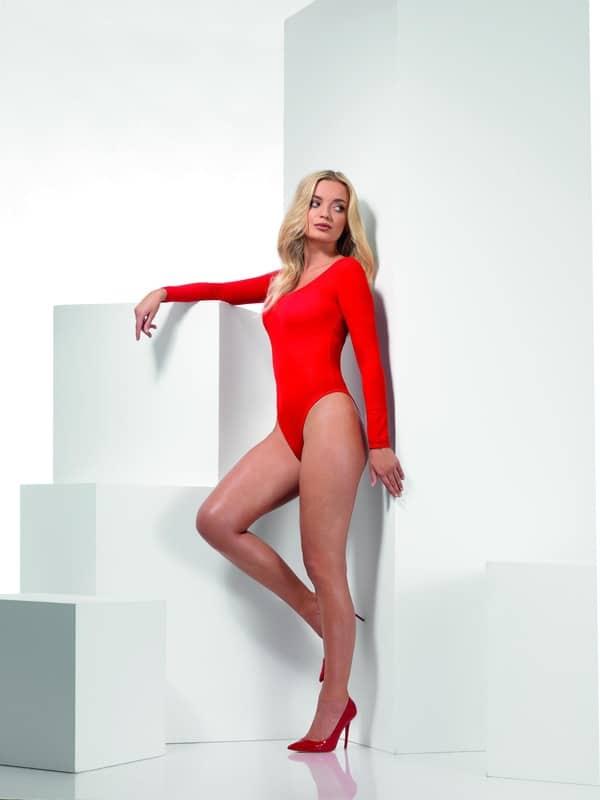 Opaque Bodysuit Red