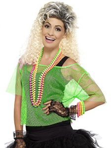 1980s Fishnet Top Neon Green ~ Large / X Large