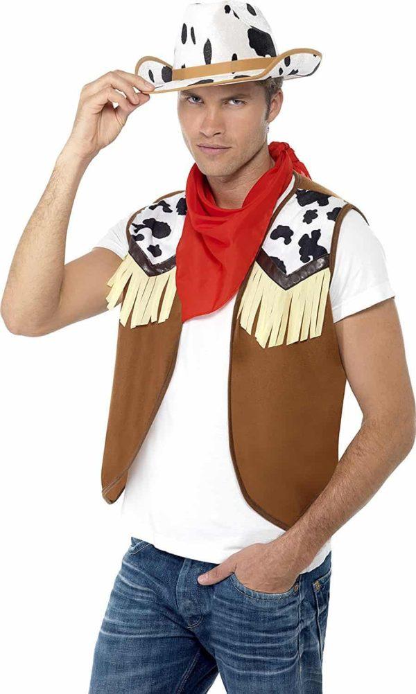 Mens Cowboy Wild West Instant Kit