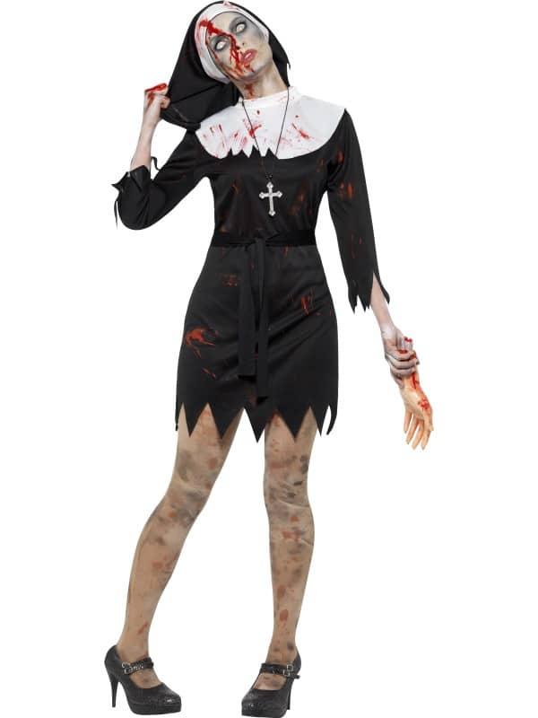 Zombie Nun Sister Costume X Large
