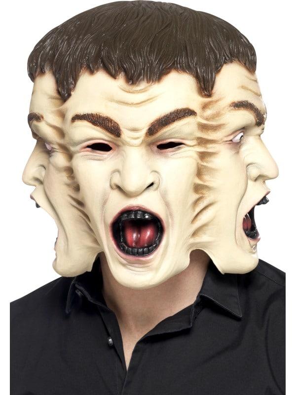 Halloween 3 Headed Face Mask