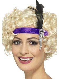 1920s Purple Satin Charleston Headband