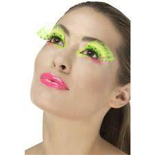 1980s polka Dot Eyelashes Neon Green