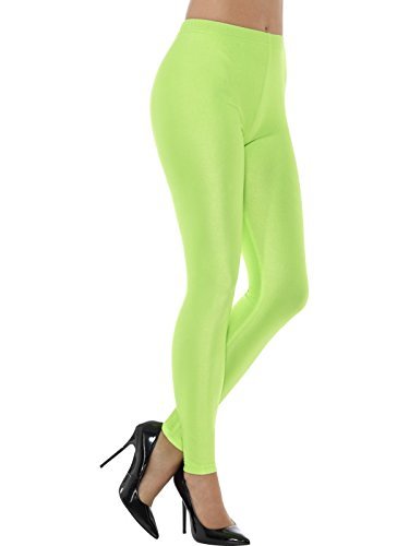 1980s Disco Spandex Leggings Neon Green ~ Large