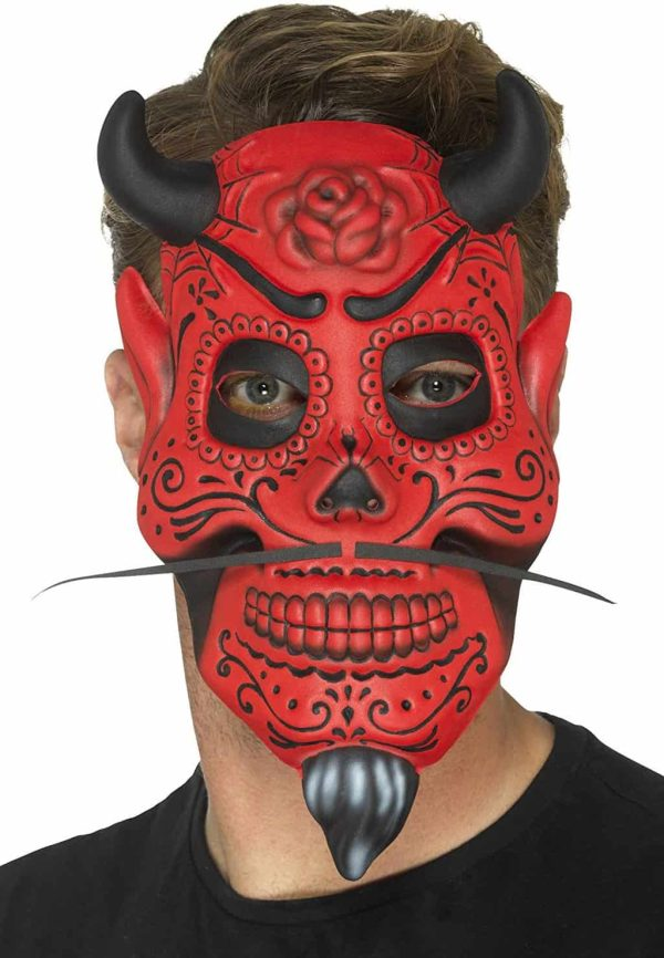 Day of The Dead Devil Adult Mask