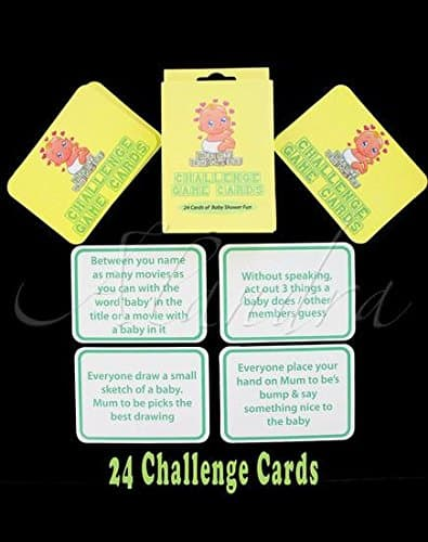 Baby Shower Challenge Game Cards