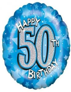Happy Birthday 50th Foil Balloon