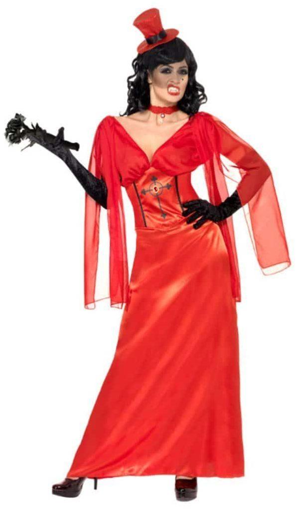 Halloween Red Dracula's Bride Costume ~ Medium