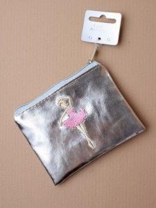 Ballerina Purse - in Shiny Metallic Pink or Silver (Silver)