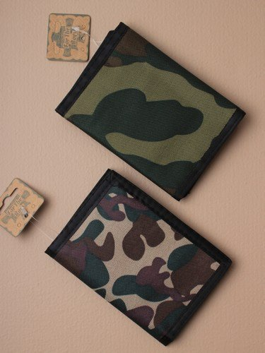 Wallet For Boys In Army Style Camouflage