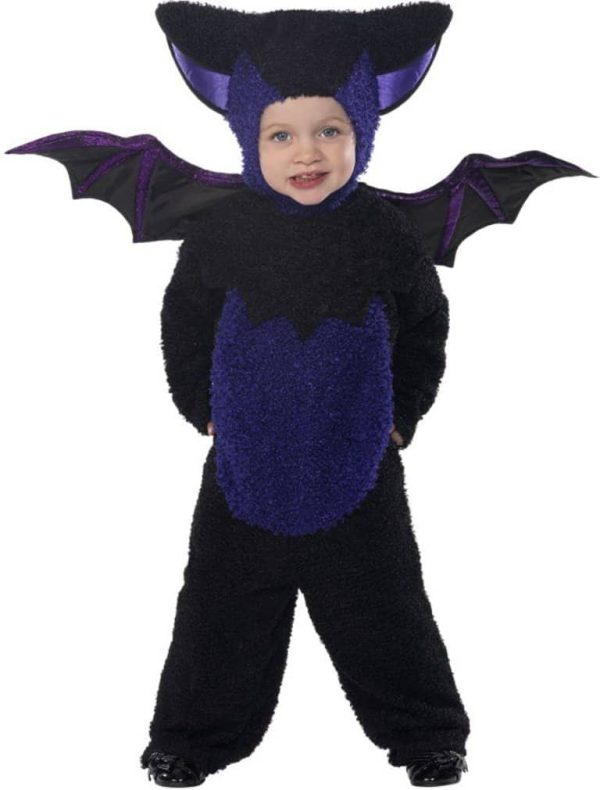 Bat Costume Jumpsuit with Hood and Wings