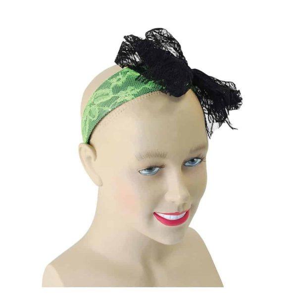 1980's Disco Green Lace Headband