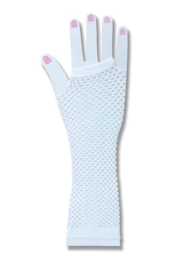 1980's White Fishnet Fingerless Gloves