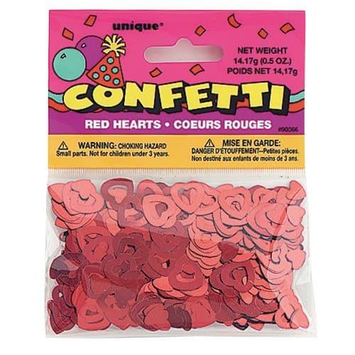Red Open Hearts Confetti