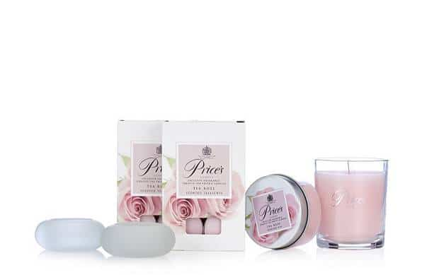 Candles Tea Rose Collection Gift Set By Prices