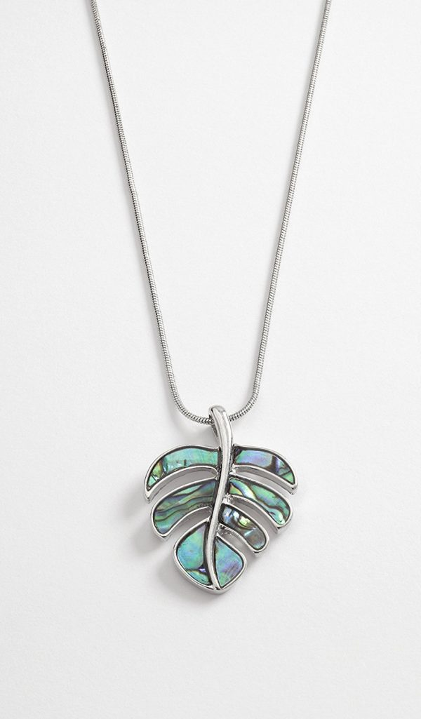 """leaf pendant Necklace on 16"""" snake chain"""