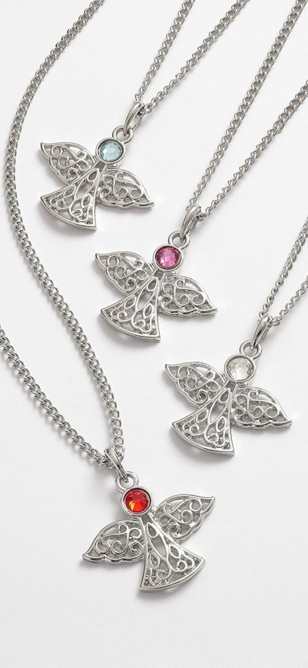 Guardian Angel Necklace Pendant With Chain