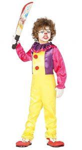 Childrens IT Clown Killer Costume 5-6