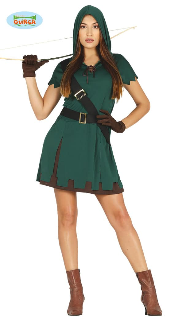 Womens Hooded Archer Costume