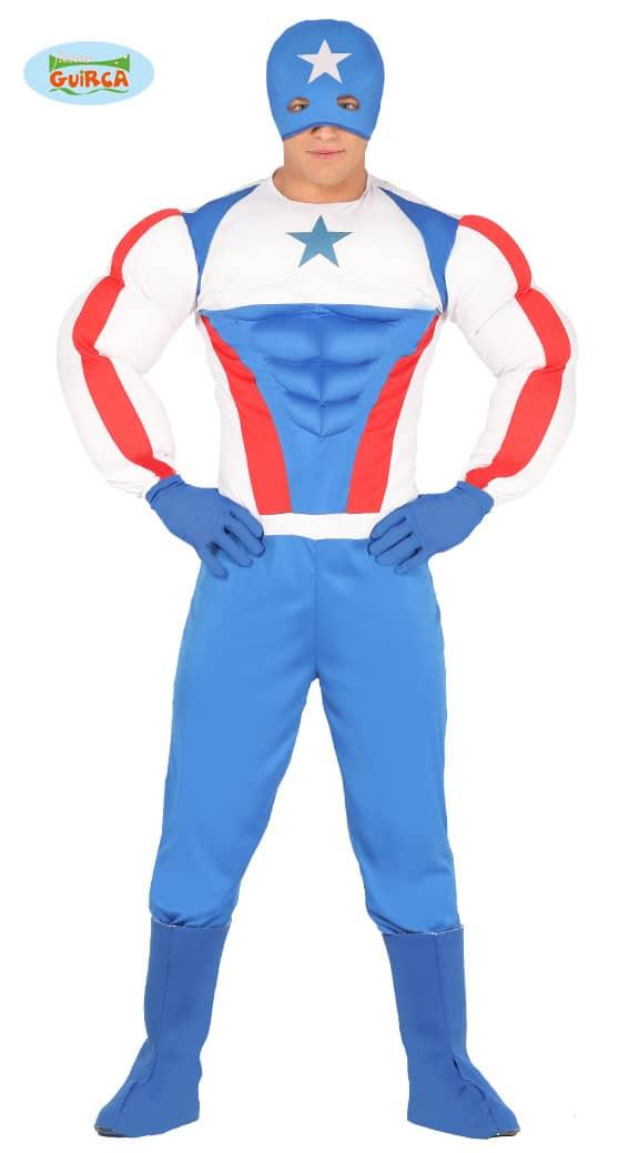 Mens American Captain Costume Medium