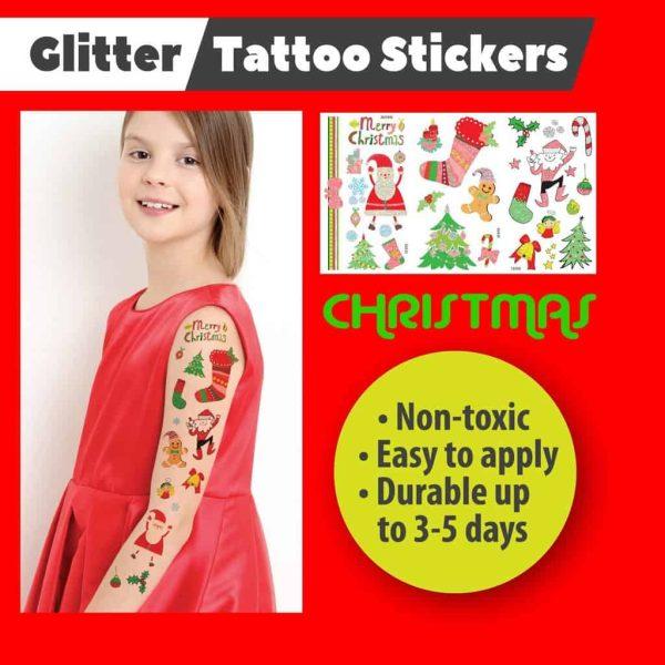 Christmas Temporary Glitter Tattoos