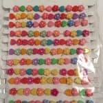 12 Children's Flower And Heart Bracelets