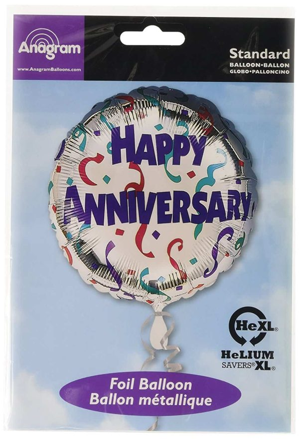 Anniversary Celebration Foil Balloon Flat Pack